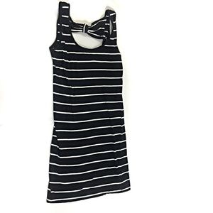 Cotton On Dress Size S Black White Stripe Bodycon